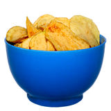 Pile of potato chips. On white background Stock Images