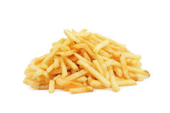 Pile of potato chips, isolated Royalty Free Stock Image