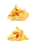 Pile of potato chips isolated Stock Photography