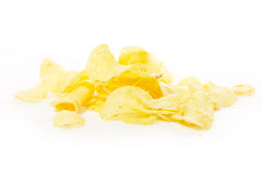 Pile of potato chips Stock Photos