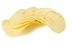 Pile of potato chips Royalty Free Stock Photo