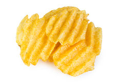 Pile of potato chips Stock Photo