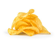 A pile of potato chips Royalty Free Stock Photography