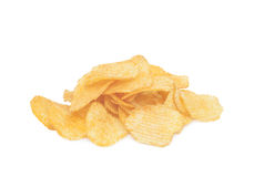 Pile of potato chips Royalty Free Stock Images