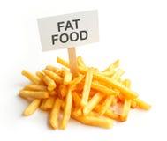 Pile of potato fries on kraft paper. Fat food Royalty Free Stock Photo