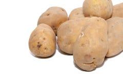 Pile of potato isolated on white. Background Royalty Free Stock Photography