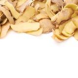 Pile of potato peels isolated Stock Photos