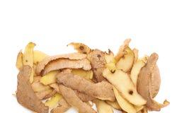 Pile of potato peels isolated Royalty Free Stock Image