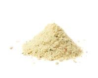 Pile of potato powder isolated stock photos