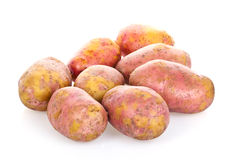 Pile of potatoes. On white background, with shallow dof Stock Images
