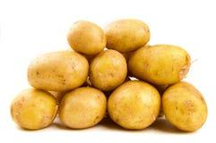 Pile of potatoes. Studio shot Stock Photos