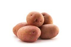Pile of Potatoes. Potatoes on white background royalty free stock photo