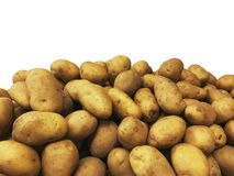 Pile of potatoes on a market stock image