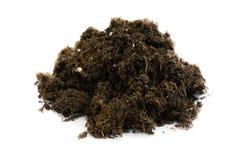 pile of potting soil isolated on white background royalty free stock photo