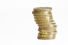 Pile of Pound Coins Royalty Free Stock Photos