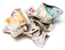 Pile of pounds royalty free stock photo