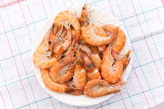 Pile of prepared shrimps Royalty Free Stock Image