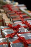 Pile of present books. In the bookstore Stock Image