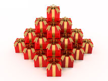 Pile of Presents from above Stock Images