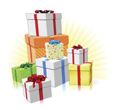 Pile of presents concept Royalty Free Stock Image