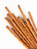 Pile of pretzel sticks Royalty Free Stock Image