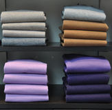 Pile of pullovers Royalty Free Stock Images