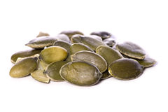 Pile of pumpkin seeds cutout Royalty Free Stock Image