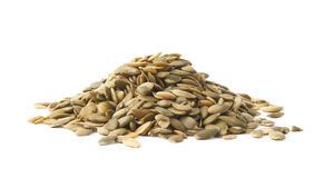 Pile of pumpkin seeds isolated Royalty Free Stock Image