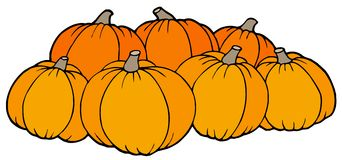 Pile of pumpkins Royalty Free Stock Photos