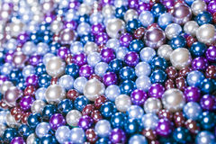Pile purple balls of bead suitable for background Stock Photography