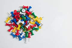 Pile of push pins Stock Image