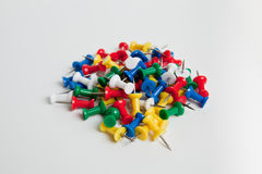 Pile of push pins Royalty Free Stock Photo