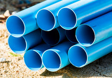 Pile of pvc pipe Stock Photography