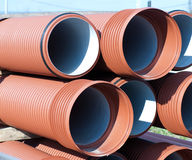 Pile of  PVC pipes Royalty Free Stock Photography