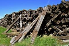 Pile of railroad ties. Stock Image