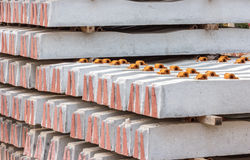 Pile of railway concrete sleeper. Stock Photography