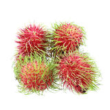 Pile of rambutan isolated on white. It is pile of rambutan isolated on white Royalty Free Stock Photos