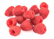 Pile of raspberries Stock Photography