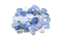 Pile of raw natural ble sapphires Stock Images