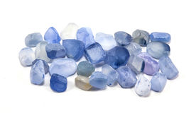 Pile of raw natural ble sapphires Stock Photography