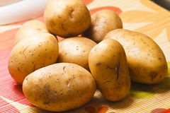 Pile of raw potatoes Royalty Free Stock Photo