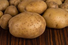 Pile of raw potatoes Royalty Free Stock Photography