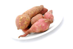 Pile of Raw Sweet Potatoes Stock Photo