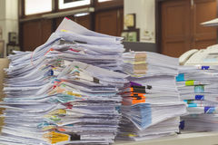 Pile of receipts Stock Photography