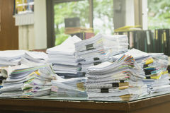 Pile of receipts Stock Image