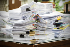 Pile of receipts Royalty Free Stock Image