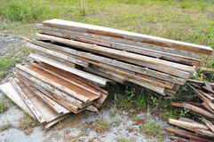 Pile of recycled used woods Royalty Free Stock Photos
