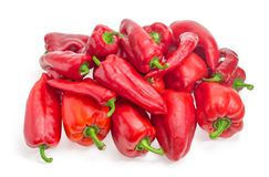 Pile of the red bell peppers and chili Royalty Free Stock Photography