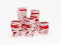 Pile of red books Stock Photos
