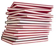Pile of red books Royalty Free Stock Images